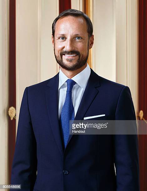 In this handout photo provided by the Royal Court Crown Prince Haakon of Norway poses for an official photograph from the Royal Court on January 15...