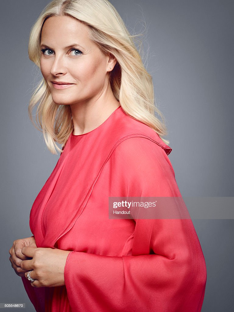 In this handout photo provided by the Royal Court, Princess Mette-Marit of Norway poses for an official photograph from the Royal Court on January 15, 2016 in Oslo, Norway.