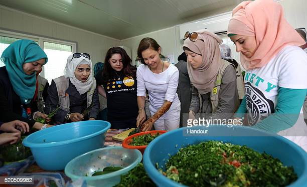 In this handout photo provided by the United Nations Population Fund actress and United Nations Population Fund Goodwill Ambassador Ashley Judd...