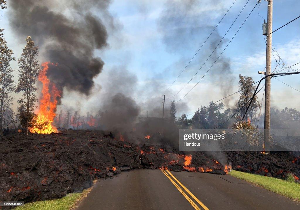 Hundreds Forced To Evacuate After Hawaii's Kilauea Volcano Erupts : News Photo