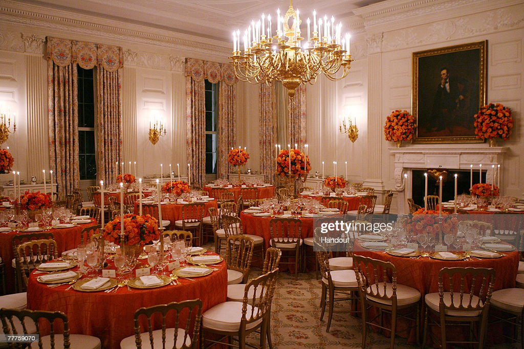 President And Mrs. Bush Welcome French President To White House : News Photo
