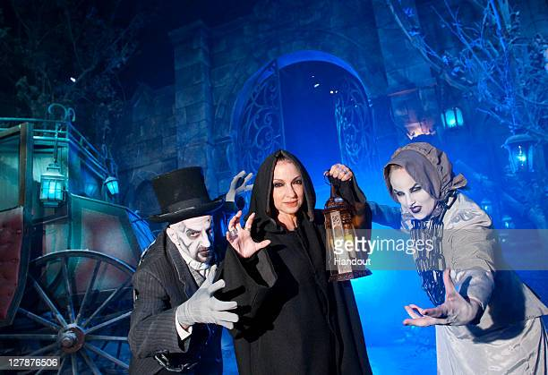 In this handout photo provided by Universal Orlando Grammyaward winning singer and songwriter Gloria Estefan encountered deceased souls while making...