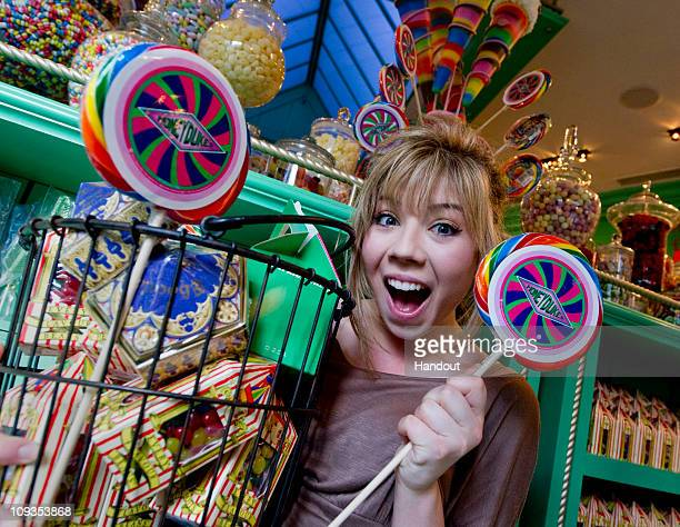 In this handout photo provided by Universal Orlando Resort actress and singer Jennette McCurdy best known for her role as Sam in Nickelodeon's hit...