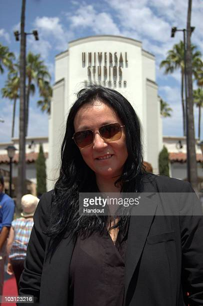 In this handout photo provided by Universal Studios Hollywood Kelly Cutrone of Bravo's Kell on Earth visits Universal Studios Hollywood on July 27...