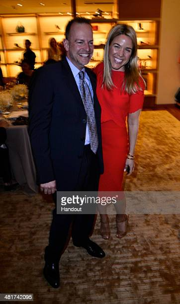 In this handout photo provided by Vogue Bill Peters and Associate Director of Special Events for Vogue Cara Crowley attend Louis Vuitton With Vogue...