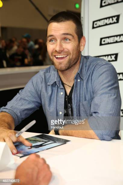 In this handout photo provided by Warner Bros Antony Starr of Banshee attend ComicCon International 2014 on July 26 2014 in San Diego California