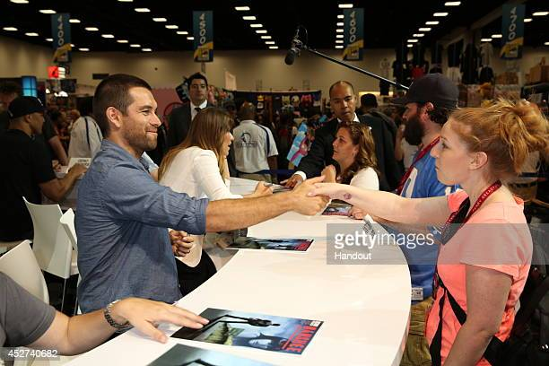 In this handout photo provided by Warner Bros Antony Starr of Banshee attends ComicCon International 2014 on July 26 2014 in San Diego California