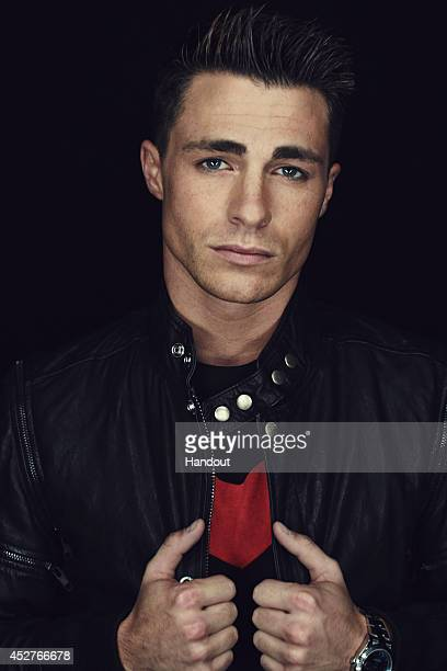 In this handout photo provided by Warner Bros Colton Haynes of Arrow attendss ComicCon International 2014 on July 26 2014 in San Diego California