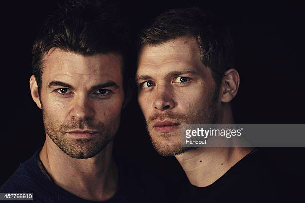 In this handout photo provided by Warner Bros Daniel Gillies and Joseph Morgan of 'The Originals' attend ComicCon International 2014 on July 26 2014...