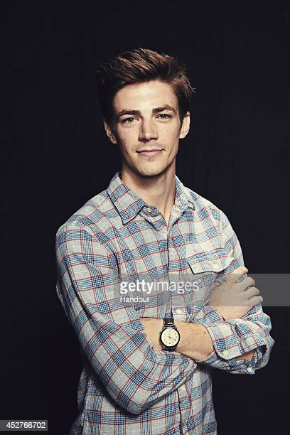 In this handout photo provided by Warner Bros Grant Gustin of 'The Flash' attendss ComicCon International 2014 on July 26 2014 in San Diego California