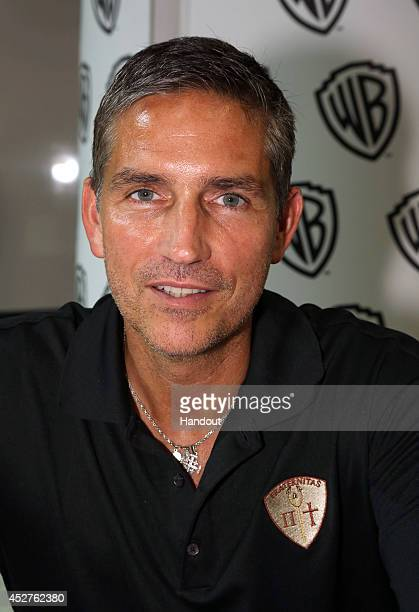 In this handout photo provided by Warner Bros Jim Caviezel of 'Person of Interest' attends ComicCon International 2014 on July 26 2014 in San Diego...