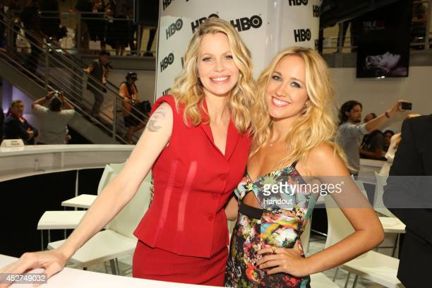 in this handout photo provided by Warner Bros Kristin Bauer van Straten and Anna Camp of 'True Blood' attend ComicCon International 2014 on July 26...