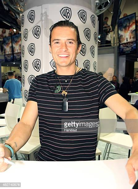 "In this handout photo provided by Warner Bros, Orlando Bloom of ""The Hobbit: The Battle of the Five Armies"" attend Comic-Con International 2014 on..."