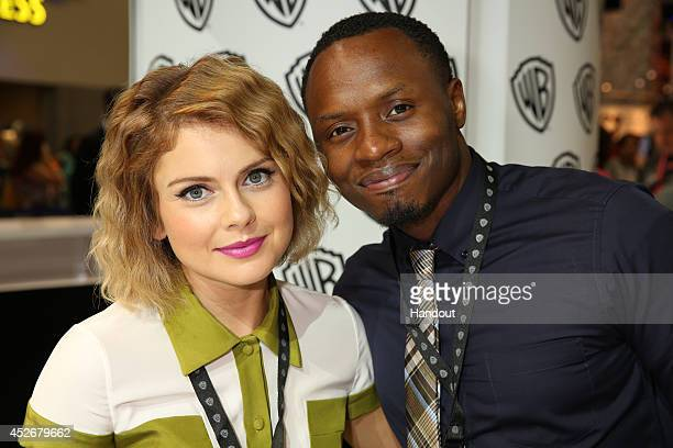 In this handout photo provided by Warner Bros Rose McIver and Malcolm Goodwin of 'iZombie' attend ComicCon International 2014 on July 25 2014 in San...
