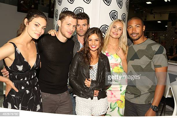 In this handout photo provided by Warner Bros 'The Originals' stars Phoebe Tonkin Joseph Morgan Daniel Gillies Danielle Campbell Leah Pipes and...
