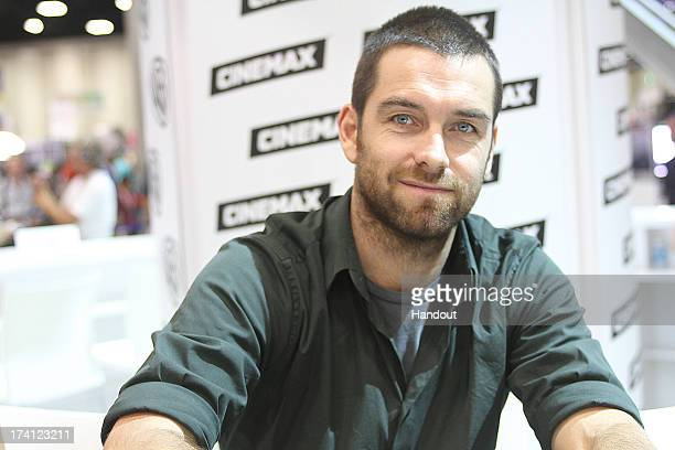 In this handout photo provided by WBTV Antony Starr meets the fans in the Warner Bros booth at the San Diego Convention Center on July 19 2013 in San...