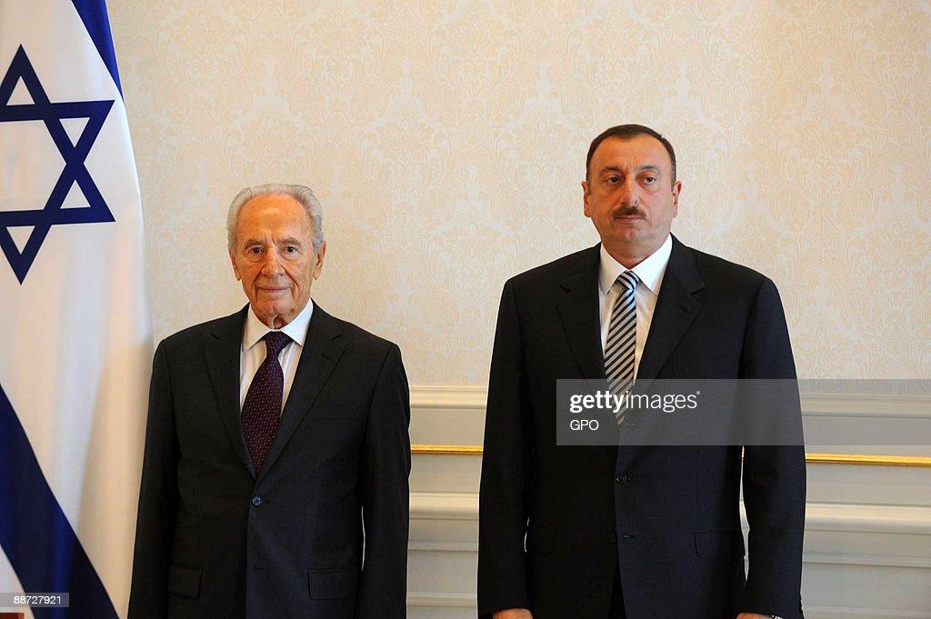 Israeli President Peres Visits Azerbaijan : News Photo