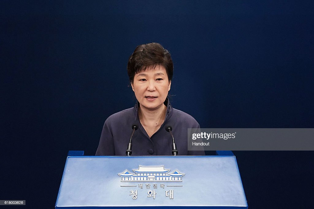 South Korean President Park Offers Public Apology : News Photo