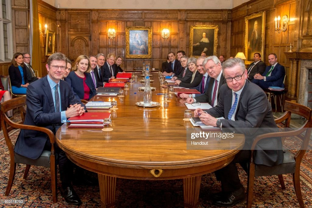 Brexit War Cabinet Away Day At Chequers : News Photo