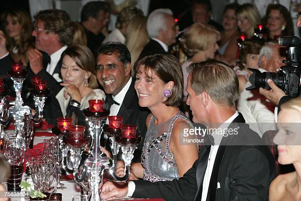 In this handout photo supplied by Realis/SBM Princess Caroline of Hanover attends the 59th Red Cross Ball on July 27 2007 in Monte Carlo Monaco