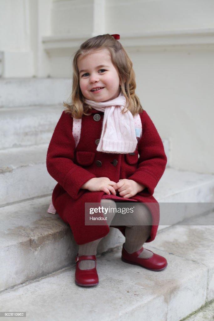 Princess Charlotte Starts Nursery School : News Photo