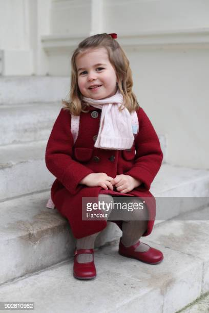 In this handout photo supplied by the Duke and Duchess of Cambridge Princess Charlotte poses for a photograph taken by her mother Catherine Duchess...