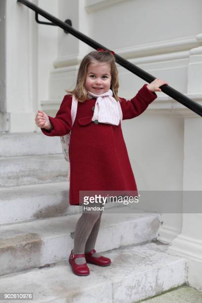 In this handout photo supplied by the Duke and Duchess of Cambridge, Princess Charlotte poses for a photograph taken by her mother, Catherine,...