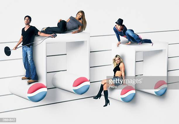 In this handout photomontage provided by Pepsi Pepsi returns this year with its most exciting line up ever for International Pepsi Music The...