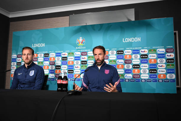 GBR: England Training Session and Press Conference - UEFA Euro 2020: Round of 16