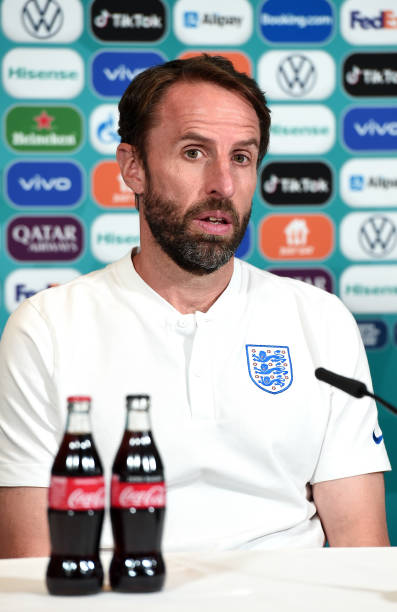 GBR: England Training Session and Press Conference - UEFA Euro 2020: Semi-final