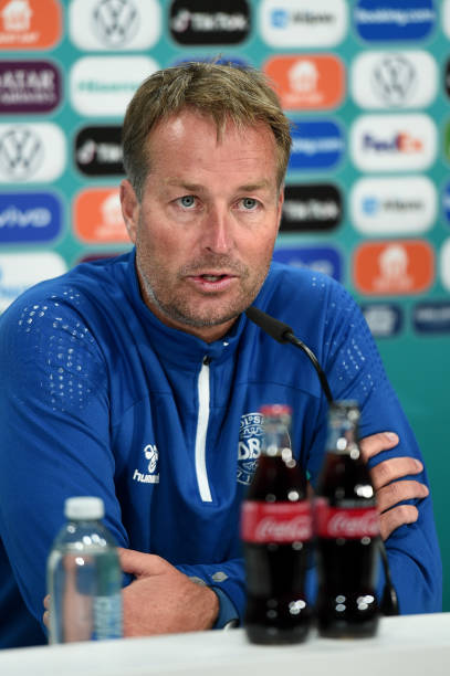 GBR: Denmark Training Session and Press Conference - UEFA Euro 2020: Semi-final