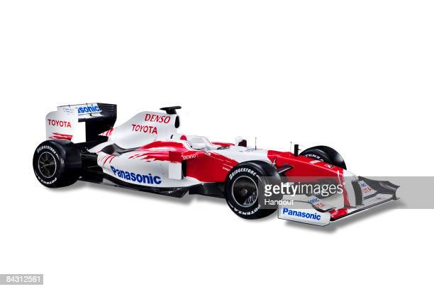 In this handout picture the new TF109 is seen during the Panasonic Toyota Formula One Grand Prix team launch of the TF109 race car for the 2009...