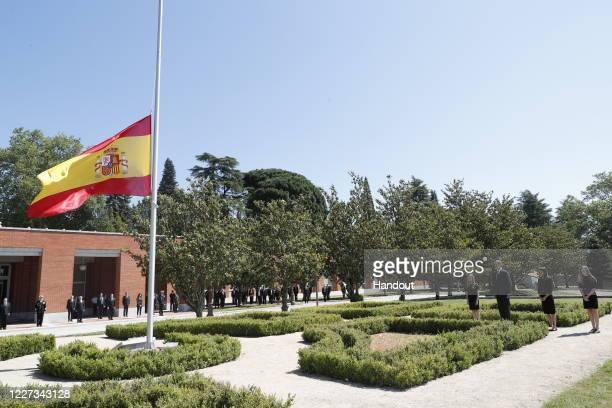 In this handout provide by Casa de S.M. El Rey Spanish Royal Household, Princess Leonor of Spain, King Felipe VI of Spain, Queen Letizia of Spain and...