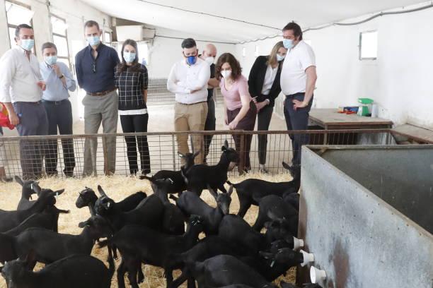 ESP: Spanish Royals Visit Vega San Martin Agrarian Transformation Society
