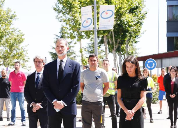 ESP: Spanish Royals Take Minute Of Silence For the COVID 19 Victims