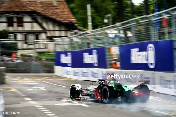 In this handout provided by ABB FIA Formula E Daniel Abt Audi Sport ABT Schaeffler Audi etron FE05 in action during the Swiss EPrix Race 11 of the...