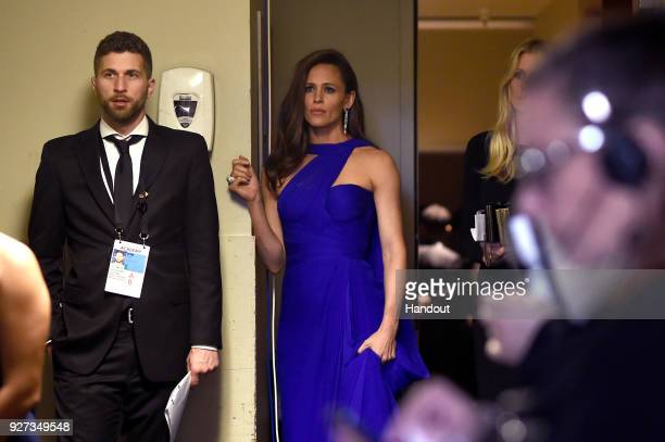 In this handout provided by AMPAS actor Jennifer Garner attends the 90th Annual Academy Awards at the Dolby Theatre on March 4 2018 in Hollywood...