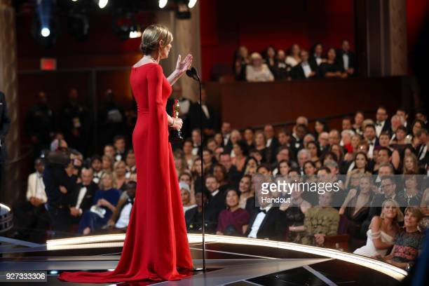 In this handout provided by AMPAS Allison Janney attends the 90th Annual Academy Awards at the Dolby Theatre on March 4 2018 in Hollywood California