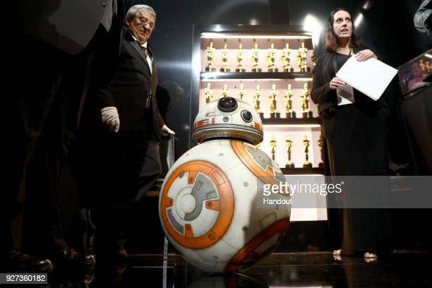 In this handout provided by AMPAS BB8 attends the 90th Annual Academy Awards at the Dolby Theatre on March 4 2018 in Hollywood California