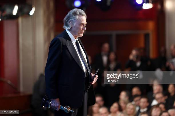 In this handout provided by AMPAS Christopher Walken attends the 90th Annual Academy Awards at the Dolby Theatre on March 4 2018 in Hollywood...
