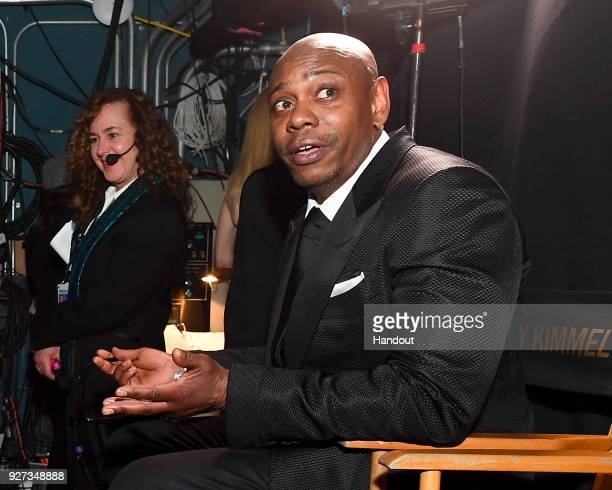 In this handout provided by AMPAS Dave Chappelle attends the 90th Annual Academy Awards at the Dolby Theatre on March 4 2018 in Hollywood California