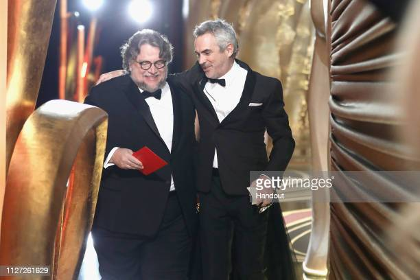 In this handout provided by AMPAS director Guillermo del Toro and winner of Best Foreign Language Film Best Director and Best Cinematography for...