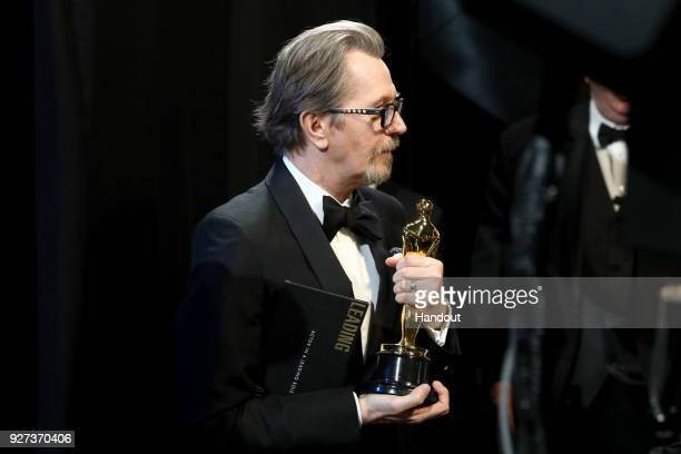 In this handout provided by AMPAS Gary Oldman attends the 90th Annual Academy Awards at the Dolby Theatre on March 4 2018 in Hollywood California