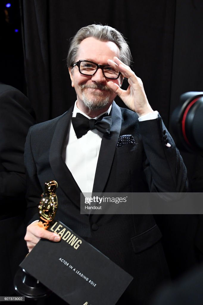 In this handout provided by A.M.P.A.S., Gary Oldman attends the 90th Annual Academy Awards at the Dolby Theatre on March 4, 2018 in Hollywood, California.