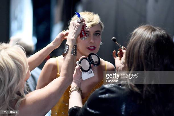 In this handout provided by AMPAS Greta Gerwig attend the 90th Annual Academy Awards at the Dolby Theatre on March 4 2018 in Hollywood California