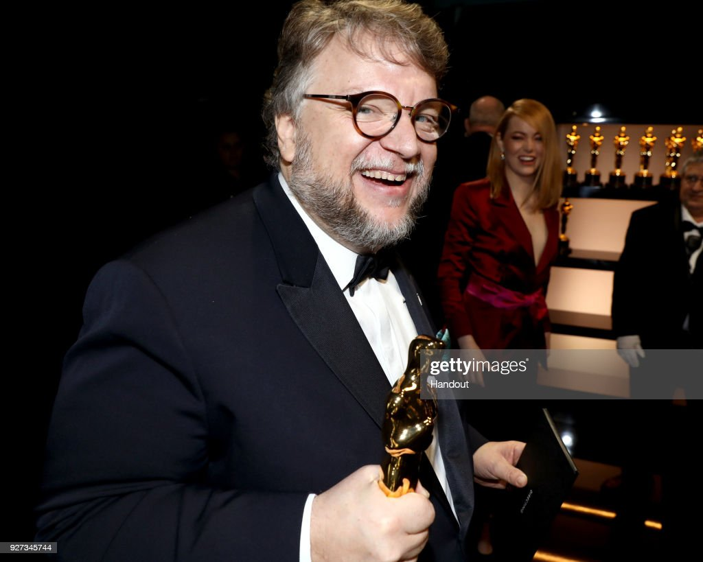 In this handout provided by A.M.P.A.S., Guillermo del Toro, winner of the Best Director and Best Picture awards for 'The Shape of Water,' attends the 90th Annual Academy Awards at the Dolby Theatre on March 4, 2018 in Hollywood, California.