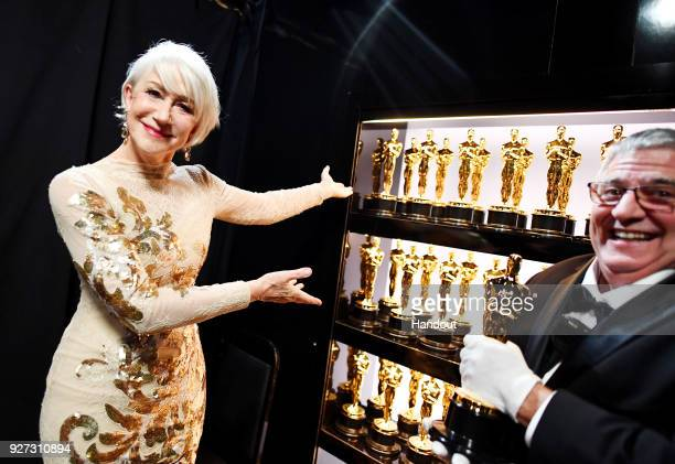 In this handout provided by AMPAS Helen Mirren attends the 90th Annual Academy Awards at the Dolby Theatre on March 4 2018 in Hollywood California