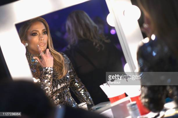 In this handout provided by AMPAS Jennifer Lopez looks on backstage during the 91st Annual Academy Awards at the Dolby Theatre on February 24 2019 in...
