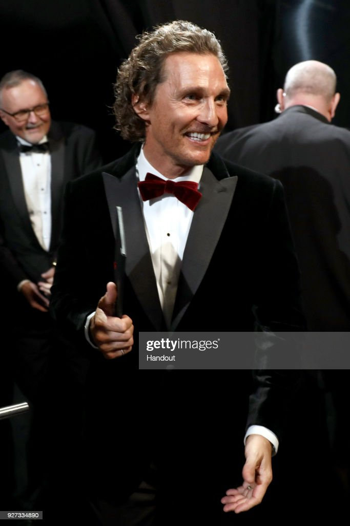 In this handout provided by A.M.P.A.S., Matthew Mcconaughy attends the 90th Annual Academy Awards at the Dolby Theatre on March 4, 2018 in Hollywood, California.