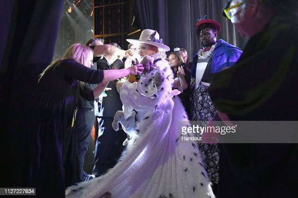 In this handout provided by AMPAS presenter Melissa McCarthy poses backstage during the 91st Annual Academy Awards at the Dolby Theatre on February...